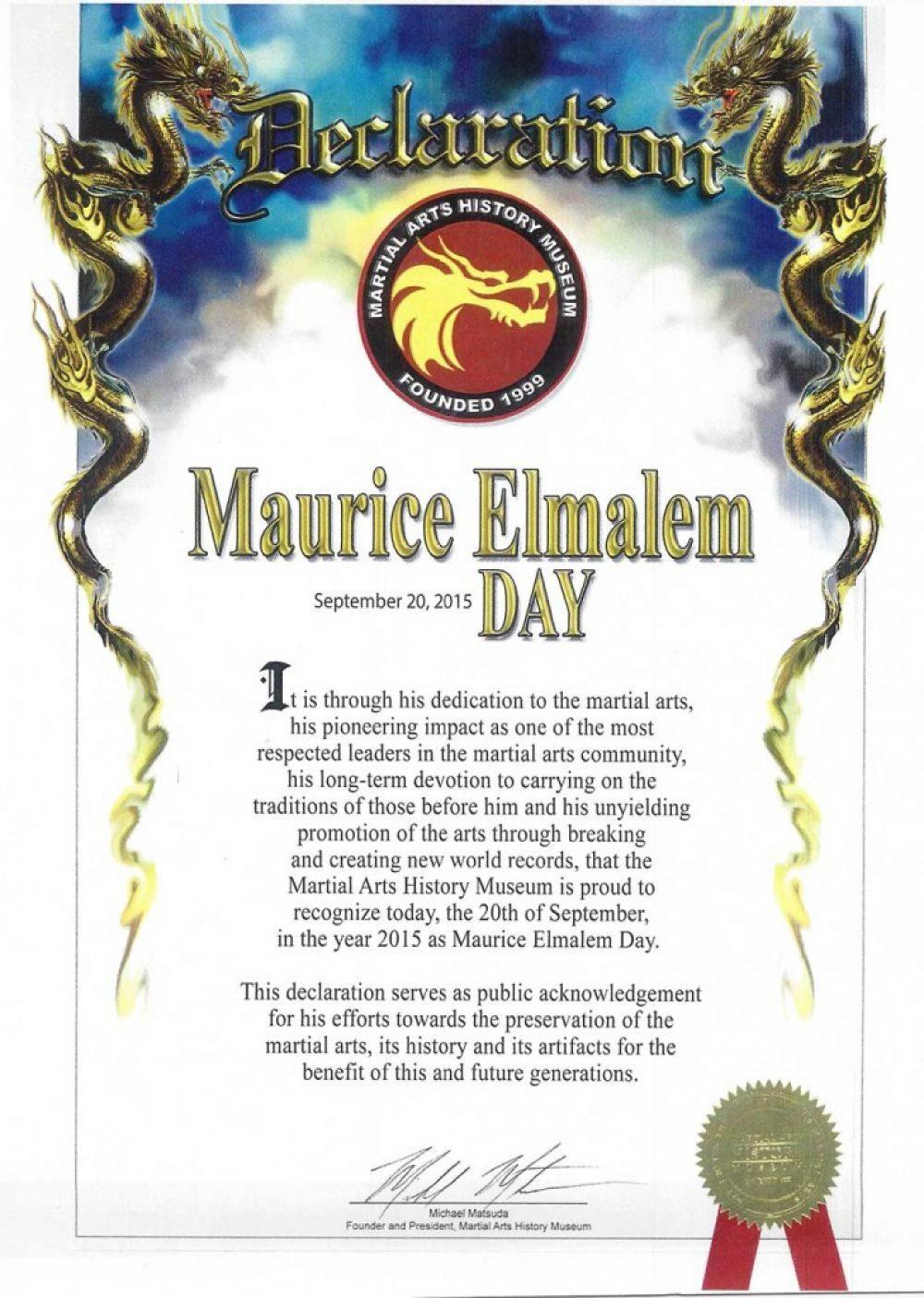 Maurice Elmalem Day
