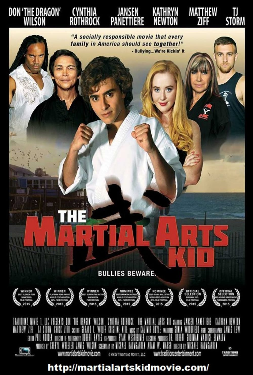 The Martial Arts Kid Poster With Awards Listed
