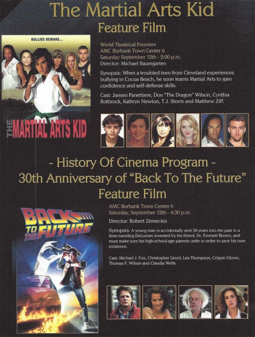 The Martial Arts Kid Premiere Program